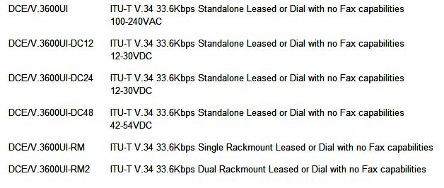 DCE-3600UI-ordering-info